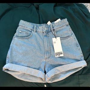 Zara Mom Fit Hi-Rise Shorts